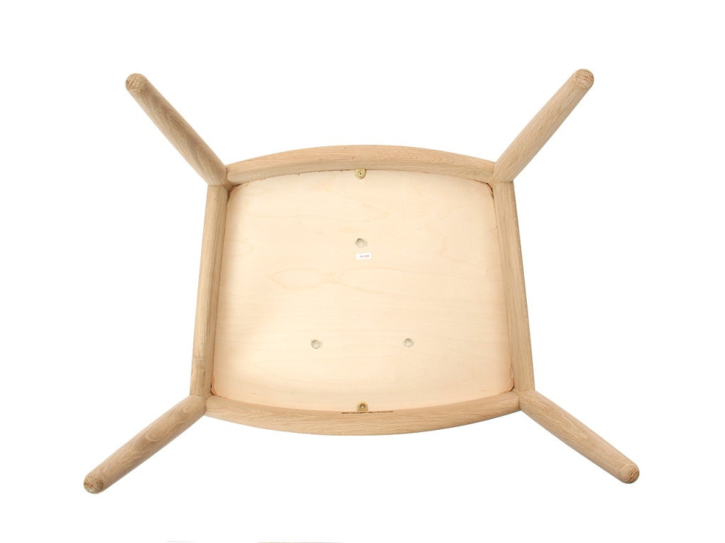 PP503 Round Chair by Hans J. Wegner for PP Møbler in Oak and Natural Leather For Sale 4