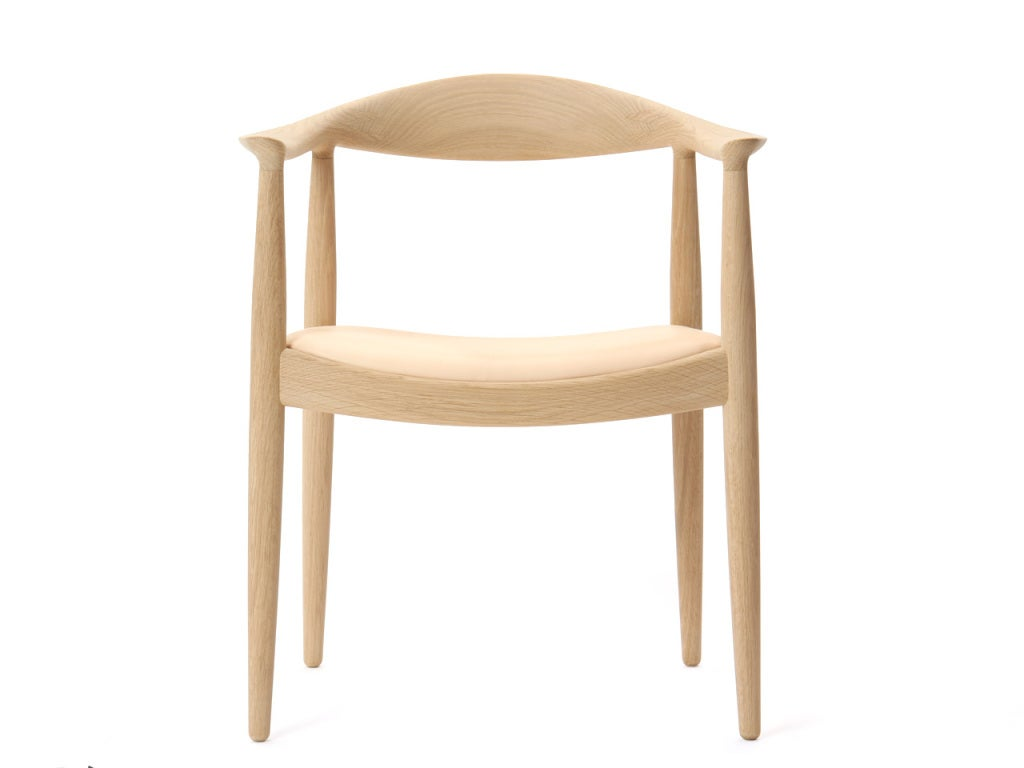 Danish PP503 Round Chair by Hans J. Wegner for PP Møbler in Oak and Natural Leather For Sale