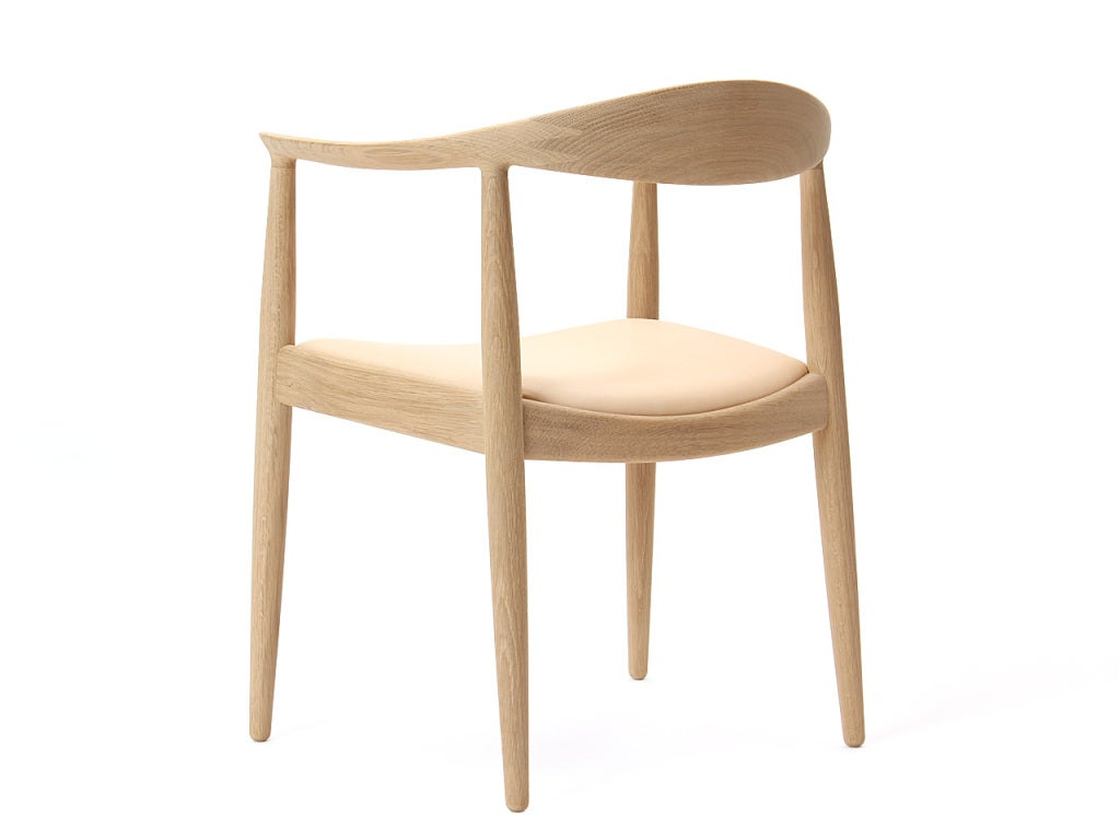 Mid-20th Century PP503 Round Chair by Hans J. Wegner for PP Møbler in Oak and Natural Leather For Sale