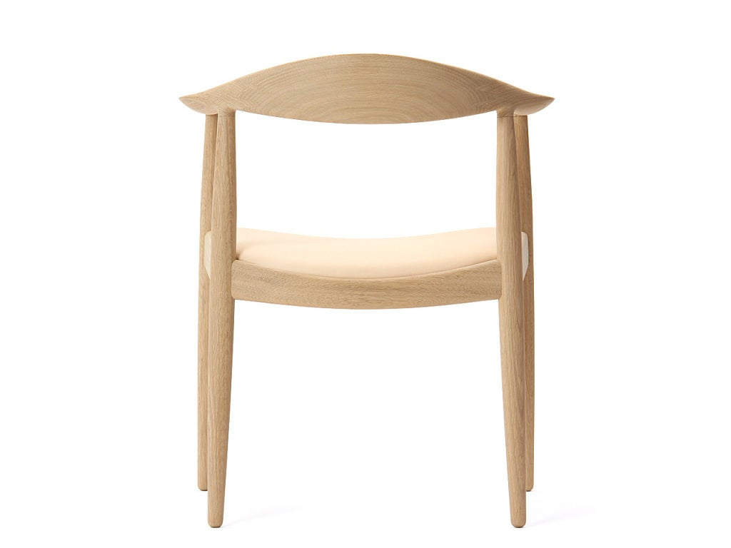 PP503 Round Chair by Hans J. Wegner for PP Møbler in Oak and Natural Leather For Sale 1
