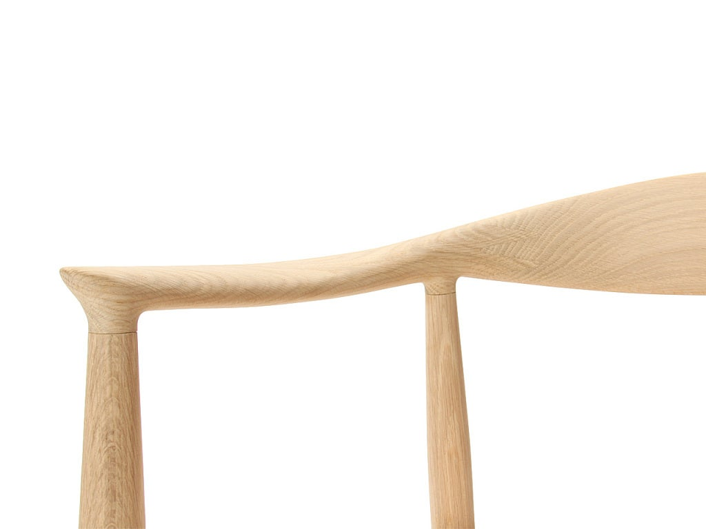 PP503 Round Chair by Hans J. Wegner for PP Møbler in Oak and Natural Leather For Sale 2