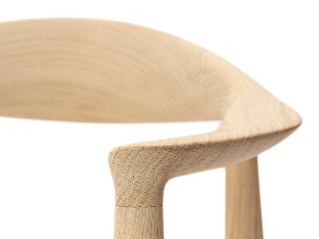 PP503 Round Chair by Hans J. Wegner for PP Møbler in Oak and Natural Leather For Sale 3