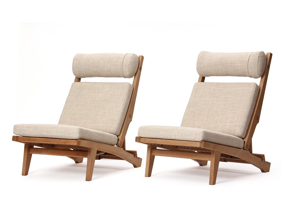 Low Lounge Chair By Hans J Wegner For Sale At 1stdibs