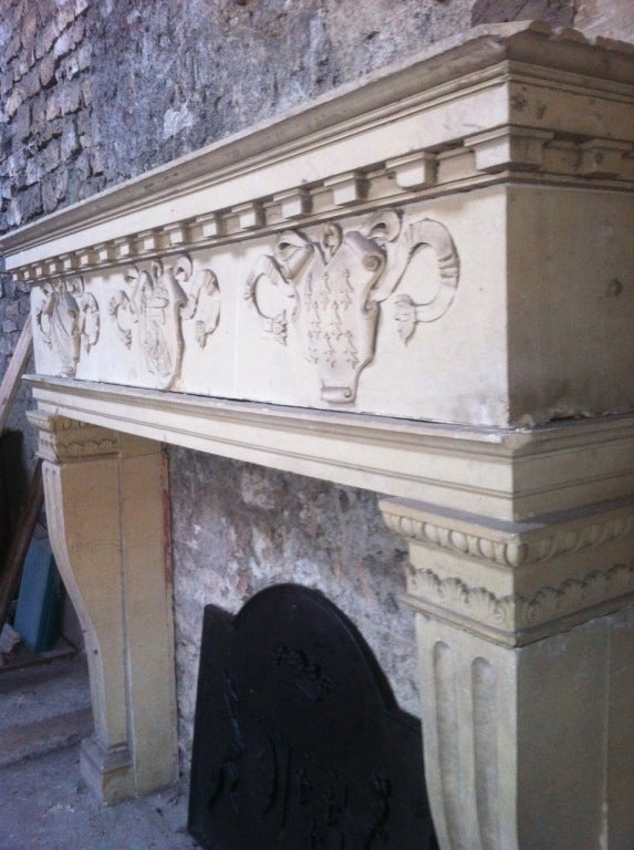 Castle Fireplace Renaissance Style 19th Century France