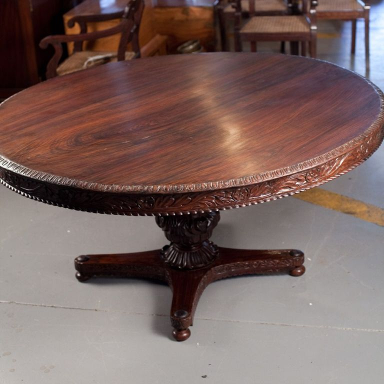 anglo indian solid rosewood tilt top dining table at 1stdibs