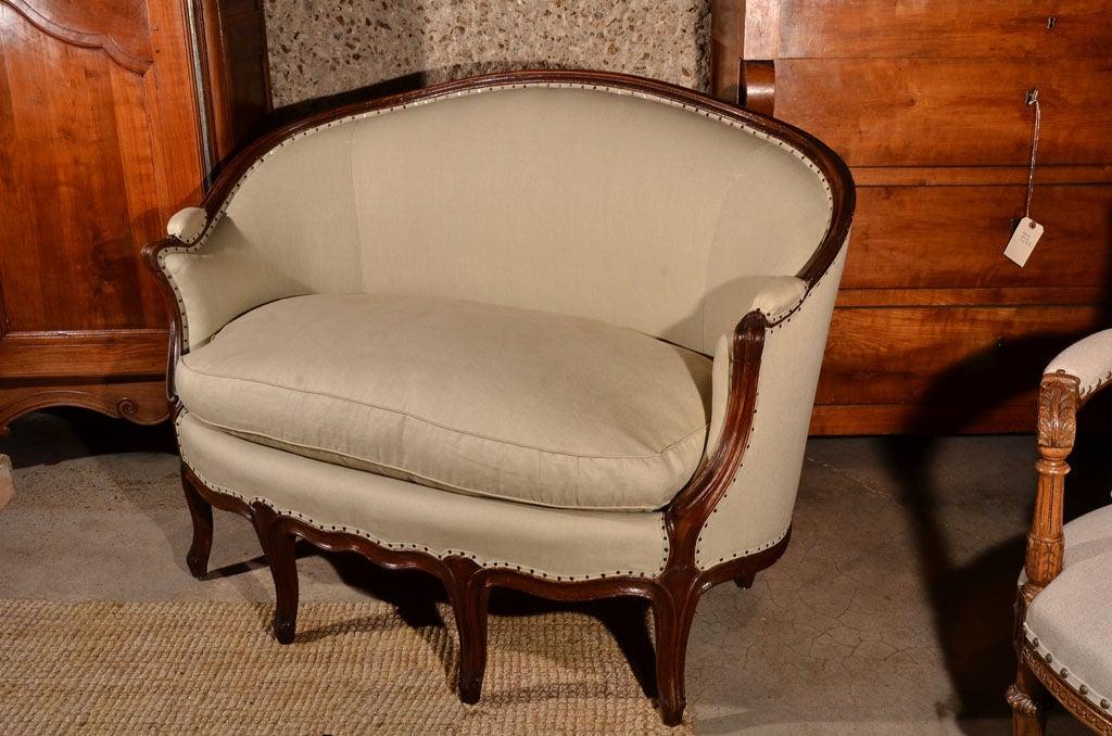 Louis XV Walnut Canape 2