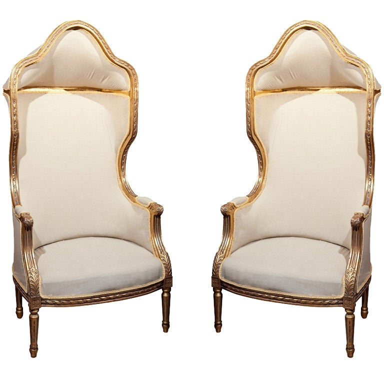Pair of French Porter's Chairs