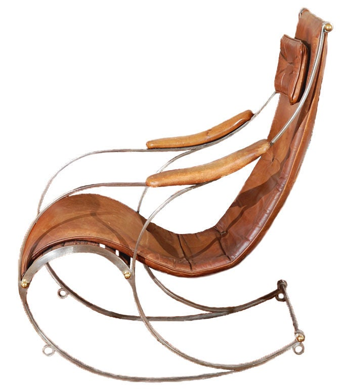 Modern French Rocking Chair At 1stdibs