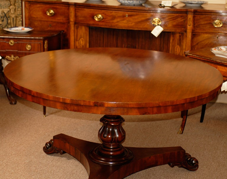 19th century english mahogany center table at 1stdibs for Table th center text