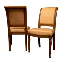 Six French Walnut Side Chairs