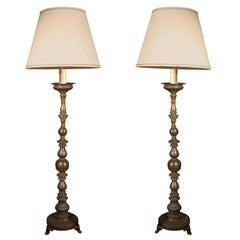 Bronze, Altar Stick Lamps