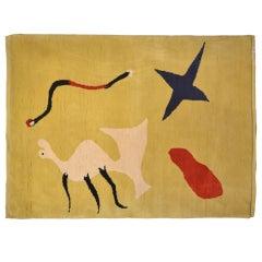 'La Mangouste' Carpet Based on Painting by Joan Mirò