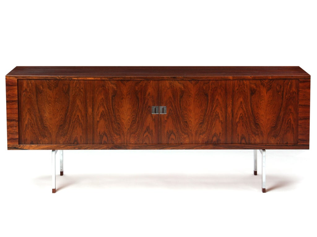 Danish Rosewood Credenza by Hans J. Wegner For Sale
