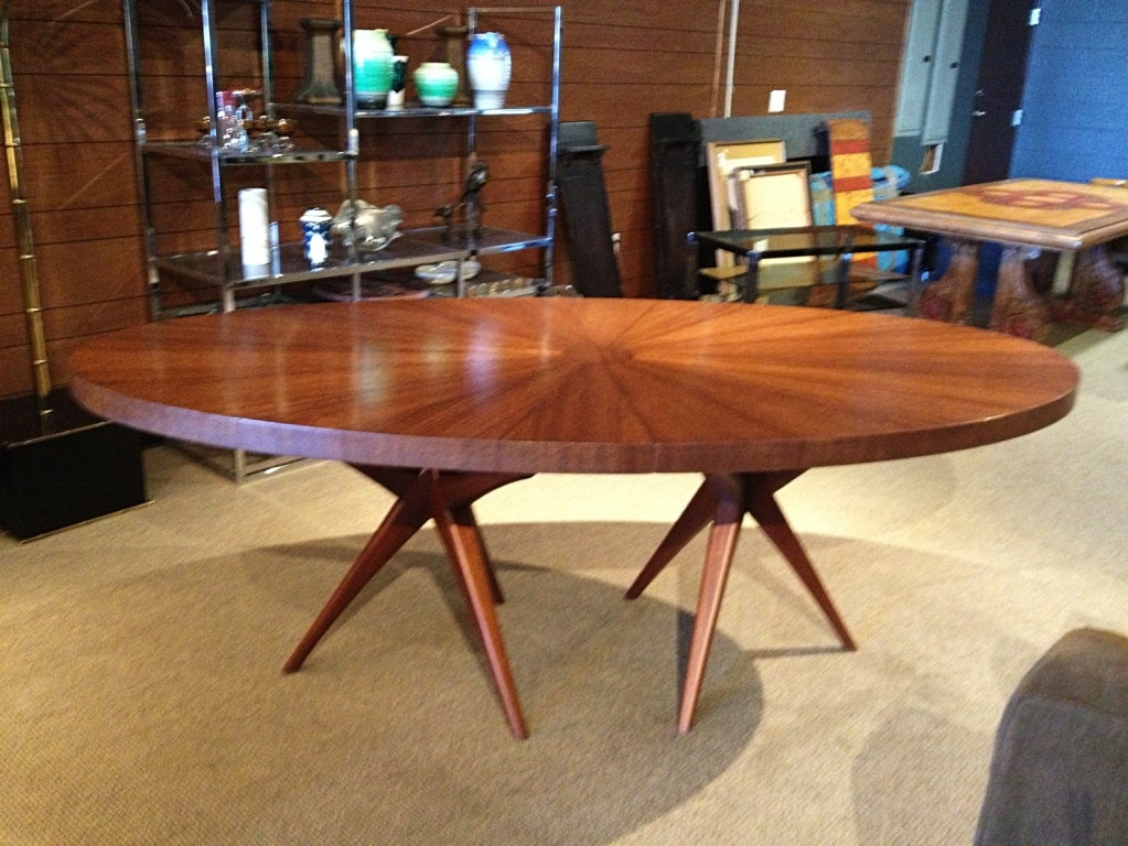 Stunning Mid Century Modern Dining Table With Tripod Bases  : 881713518989534 from www.1stdibs.com size 1023 x 768 jpeg 155kB