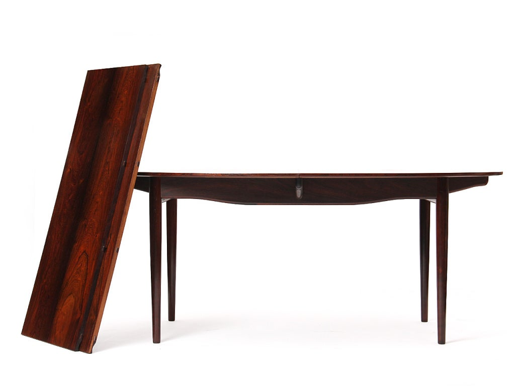Scandinavian Modern A Rosewood Dining Table by Finn Juhl For Sale
