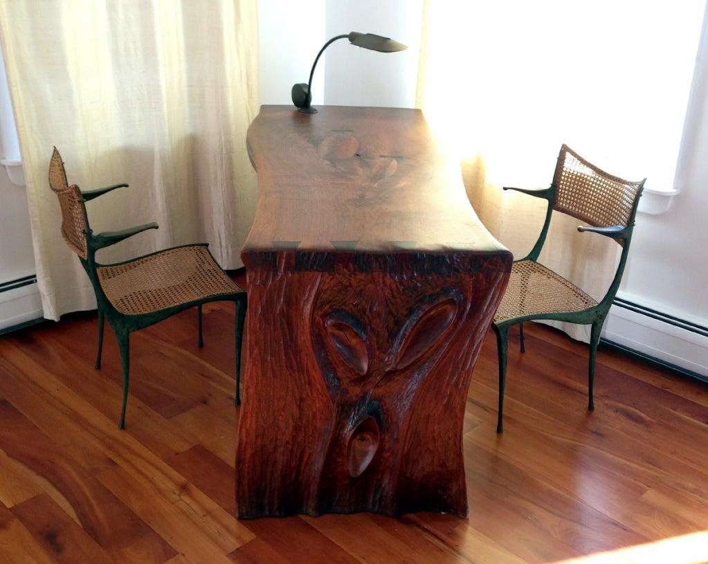 Pair of bronze Gazelle chairs Dan Johnson For Sale 5