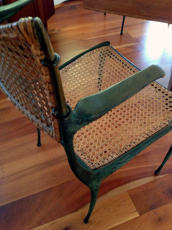 Mid-20th Century Pair of bronze Gazelle chairs Dan Johnson For Sale