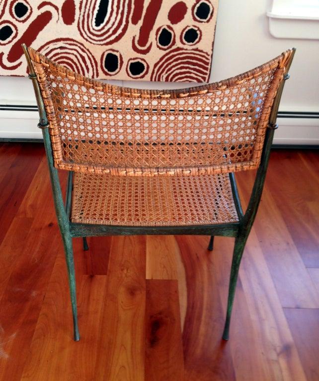 Bronze Pair of bronze Gazelle chairs Dan Johnson For Sale
