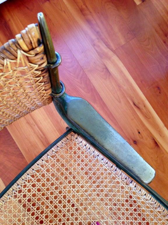 Pair of bronze Gazelle chairs Dan Johnson For Sale 2