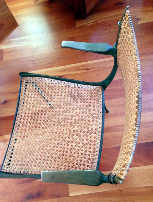 Pair of bronze Gazelle chairs Dan Johnson For Sale 3