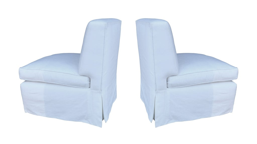 Pair Of Billy Baldwin Slipper Chairs 2