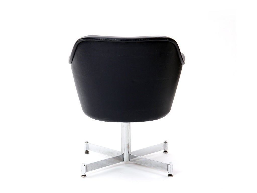 Late 20th Century Leather Desk Chair by Ward Bennett For Sale