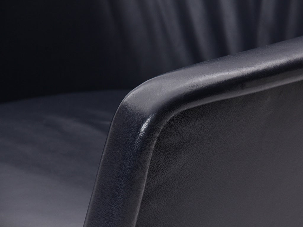 Leather Desk Chair by Ward Bennett For Sale 1