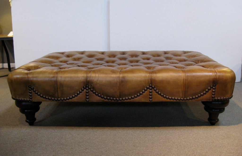 Ottomans Sherborne Ottoman Large: Large Leather Ottoman By George Smith At 1stdibs
