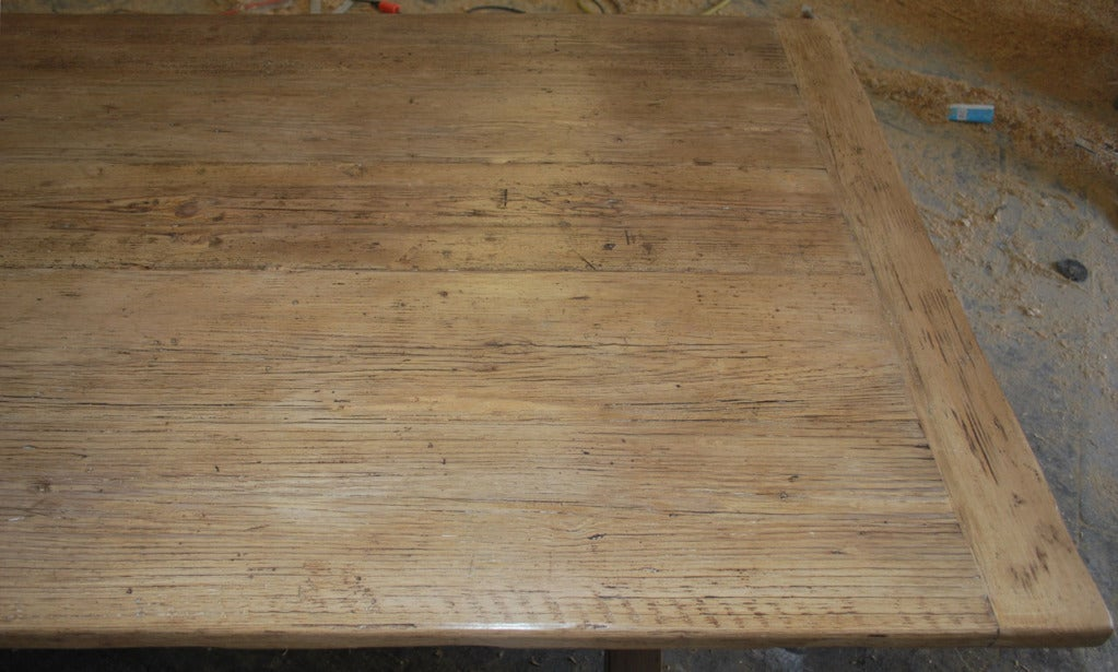 Reclaimed Wood X-Trestle Table with Matching Benches, Custom Made by Petersen Antiques For Sale