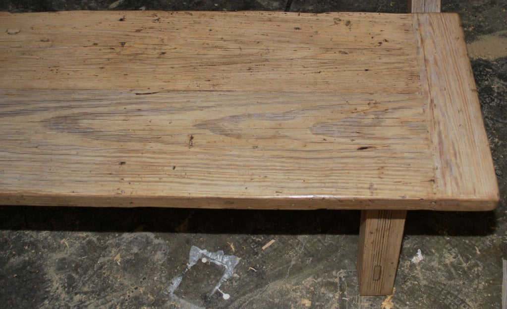 X-Trestle Table with Matching Benches, Custom Made by Petersen Antiques For Sale 2
