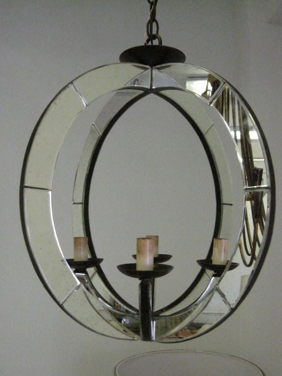 20th Century Two Italian Mid-Century Modern Style Spherical Mirrored Pendants For Sale