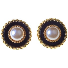 Boxed Large Clip Earrings by Chanel