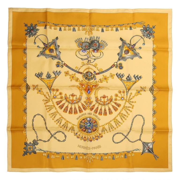 Hermès Parures des Sables 90 cm Silk Scarf