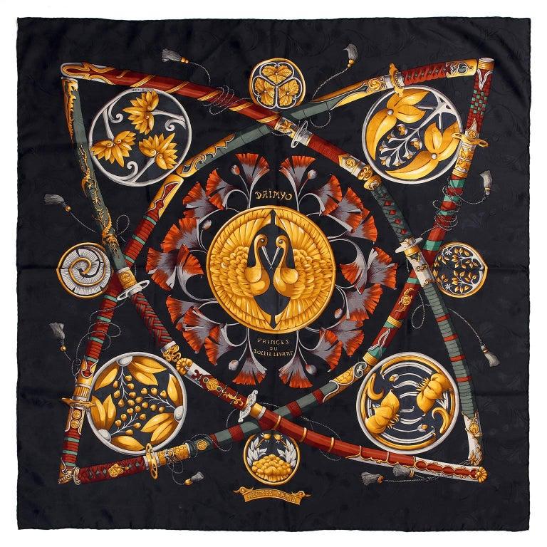 Hermès Daimyo Princes du Soleil Levant 90 cm Silk Scarf