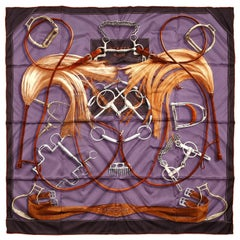 Hermès Projets Carres 90 cm Silk Scarf