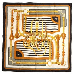 Hermès Coaching 90 cm Silk Scarf