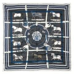 Hermès Imprimeur Fou 90 cm Cotton Silk Scarf