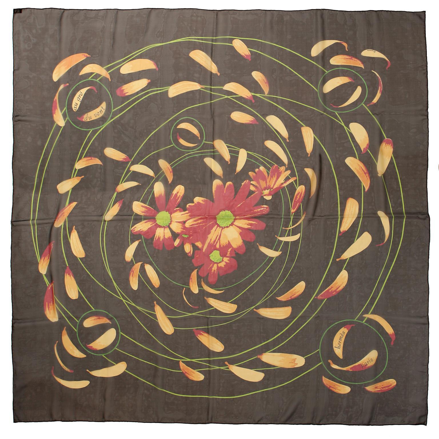Hermès Au Gre du Vent 90 cm Silk Scarf