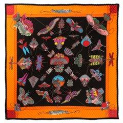 Hermès Multicolor Soies Volantes Plisse Scarf