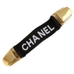 Chanel Black Elastic Clip On Suspender Cincher