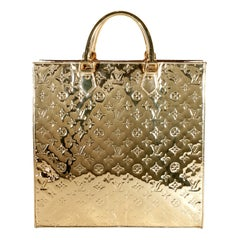 Louis Vuitton Gold Limited Edition Miroir Monogram Sac Plat Tote
