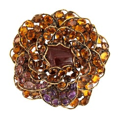Iradj Moini Crystal Flower Large Brooch