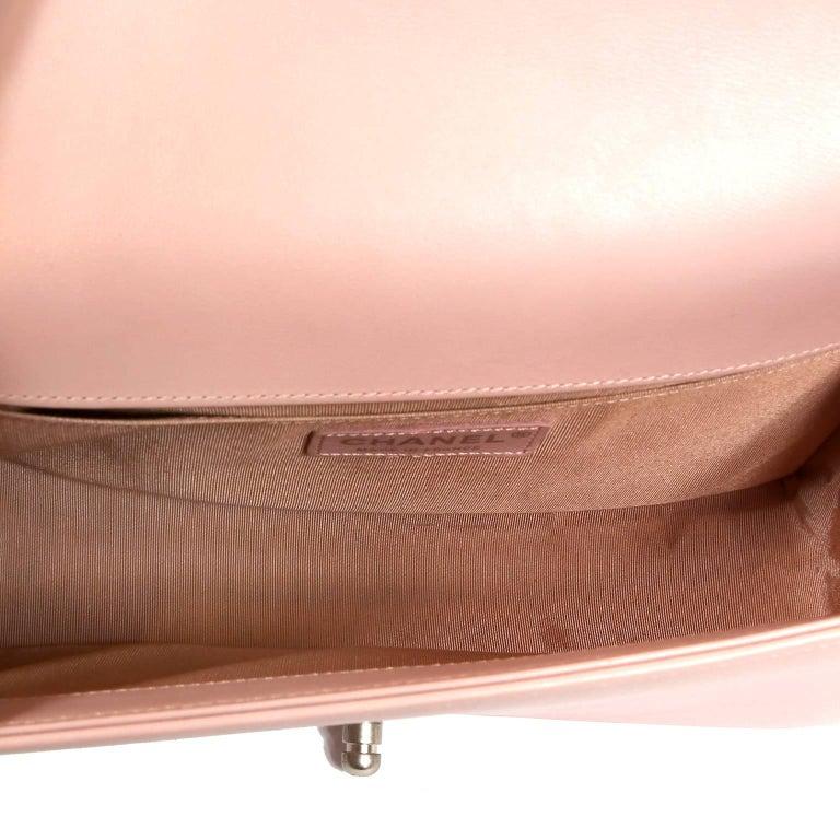9a666cf75131 Chanel Blush Pink Leather Medium Boy Bag For Sale 3