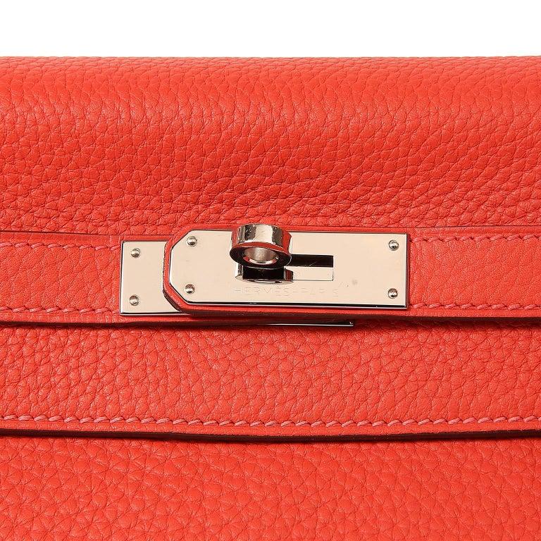Hermès Rose Jaipur Togo 35 cm Kelly Bag For Sale 1