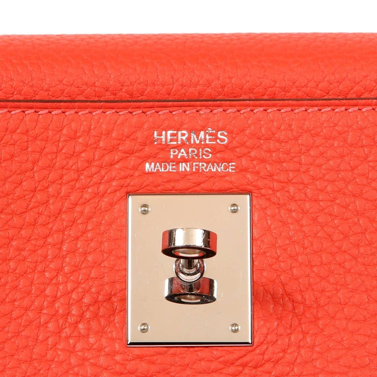 Hermès Rose Jaipur Togo 35 cm Kelly Bag For Sale 2