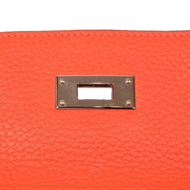 Hermès Rose Jaipur Togo 35 cm Kelly Bag For Sale 3