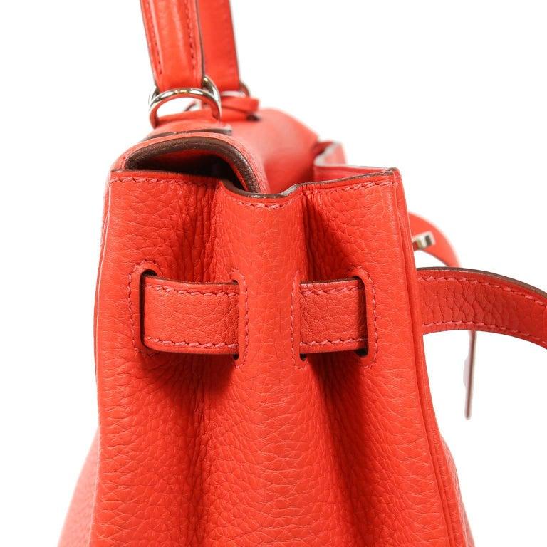 Hermès Rose Jaipur Togo 35 cm Kelly Bag For Sale 4