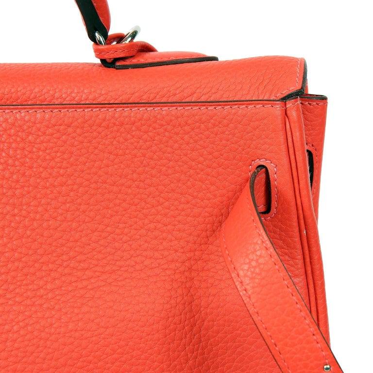 Hermès Rose Jaipur Togo 35 cm Kelly Bag For Sale 5