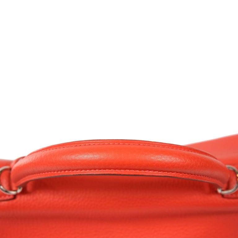 Hermès Rose Jaipur Togo 35 cm Kelly Bag For Sale 6