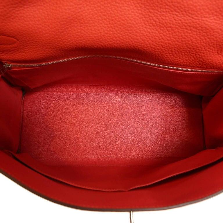 Hermès Rose Jaipur Togo 35 cm Kelly Bag For Sale 7